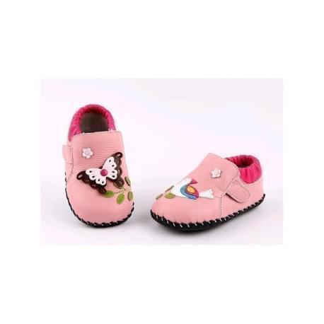 Freycoo - botičky s koženou podrážkou Vesna- růžové