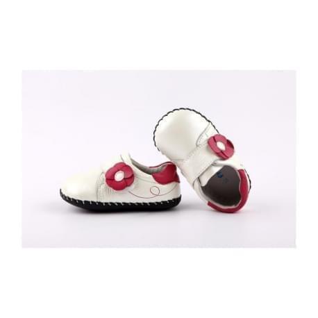 Freycoo - botičky s koženou podrážkou Heidi-bílé