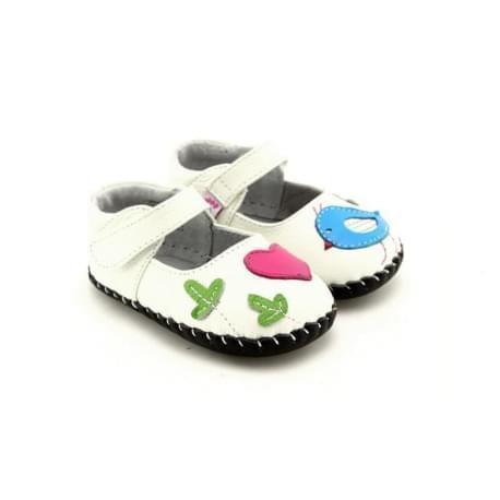 Freycoo - botičky s koženou podrážkou Vanda- bílé