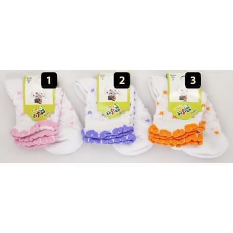 Design Socks dětské ponožky s krajkou 1