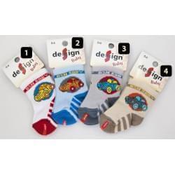 Design Socks dětské ponožky autíčko