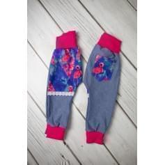 Babysoul - dívčí tepláky - Flamingo