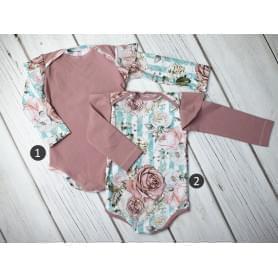 Babysoul - dětské body - Brickrose (teplejší)