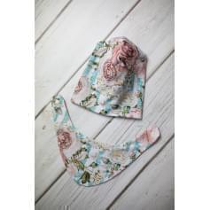 Babysoul - dětská oboustranná čepice - Rose-Brick