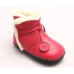 Freycoo - botičky s koženou podrážkou Naomi -tm.růžové