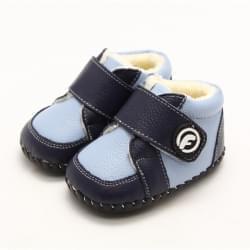 Freycoo - botičky s koženou podrážkou Puppy - modré - a