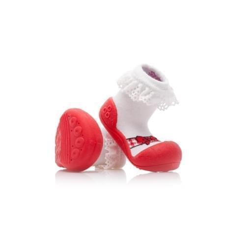 První botičky Attipas - Ballet Red