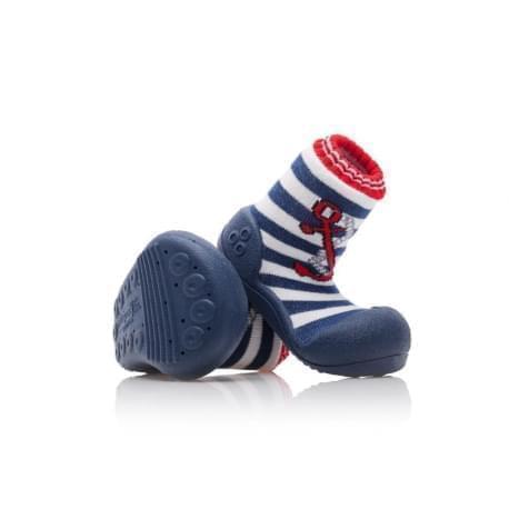 Attipas první botičky - barefoot botičky - model  Marine Anchor Red 2086bb0739