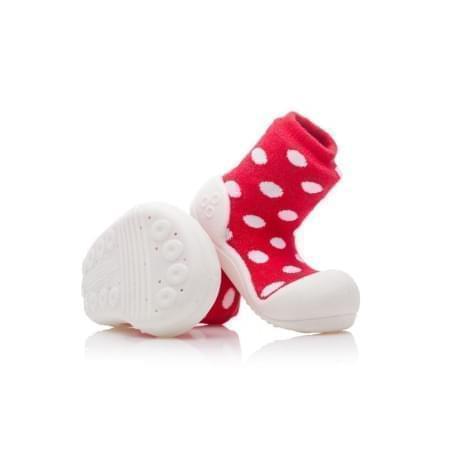 Attipas - první botičky - Polka Dot Red