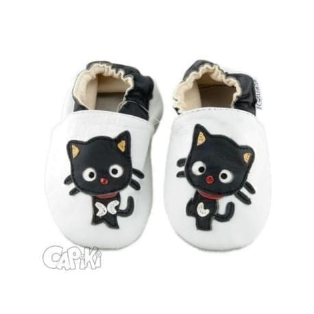 Capiki - Kožené capáčky - kočička parádnice